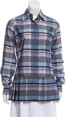 Thom Browne Plaid Button-Up Top