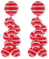 Sachin + Babi Rainbow Coconut Beaded Clip-On Earrings