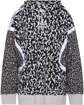 adidas Embroidered Printed Cotton-blend Hooded Jacket