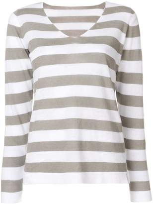 Le Tricot Perugia striped V-neck jumper