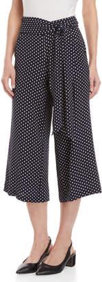 Max Studio Petite Polka Dot Tie Pants