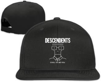 ab29c222516 LaSuBaLaLa Strapback Hat Descendents Cool To Be You Adjustable Flat  Snapback Style Cap