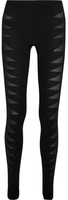 Rick Owens - Devoré Stretch-jersey Leggings - Black $580 thestylecure.com
