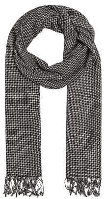Mango Man MANGO MAN Fringed check scarf
