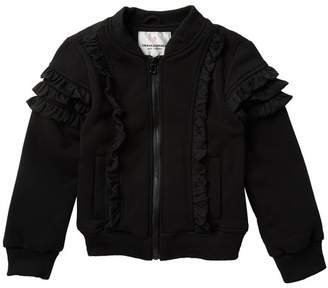 Urban Republic Ruffle Fleece Bomber Jacket (Big Girls)