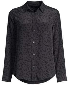 Rails Kate Cheetah Print Silk Button-Down Shirt