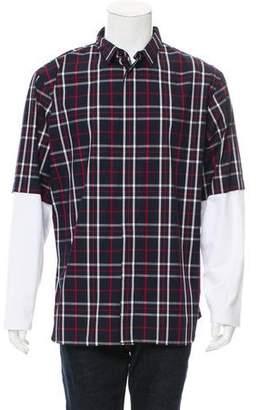 Christian Dior Plaid Button-Up Shirt w/ Tags