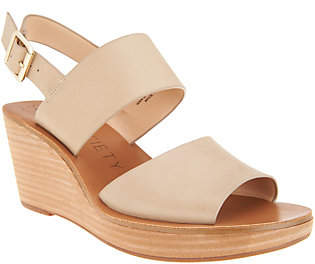 Sole Society Double Strap Wedges- Pavlina