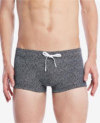 2(x)ist Men's Micro-Leopard Drawstring Swim Trunks $62 thestylecure.com