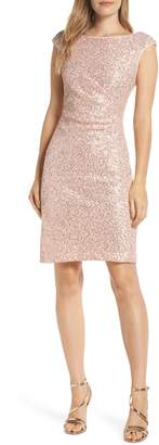 Vince Camuto Sequin Lace Sheath Dress