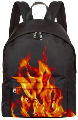Givenchy Flames Print Backpack