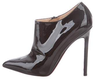 Christian Louboutin Patent Leather Pointed-Toe Booties