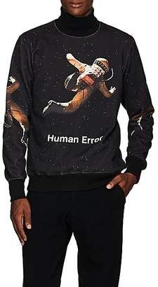 "Undercover Men's ""Human Error"" Space-Print Cotton Crewneck Sweatshirt - Black"