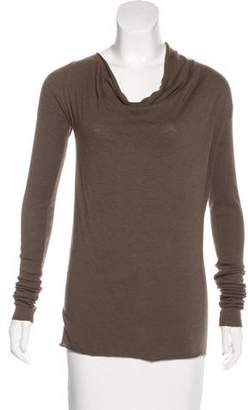 Rick Owens Lilies Long Sleeve Cowl Neck Top