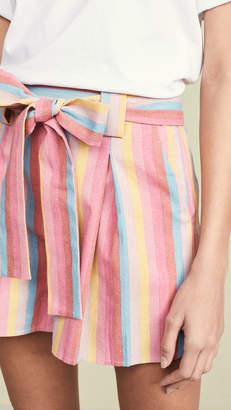 Moon River Rainbow Stripe Shorts