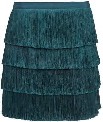 Intermix Raine Fringe Mini Skirt