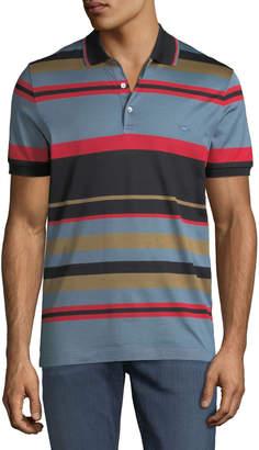 Salvatore Ferragamo Men's Cotton Striped Polo Shirt