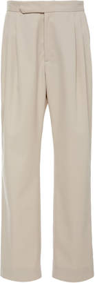 Isabella Collection Deveaux Pleated Twill Straight-Leg Pants Size: 2