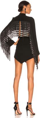 David Koma Triangle Hem Dress in Black | FWRD