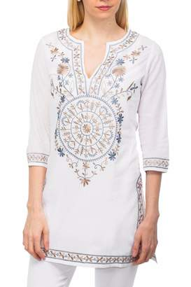Gretchen Scott Mandala Embroidered Tunic