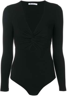 Alexander Wang twist V-neck leotard