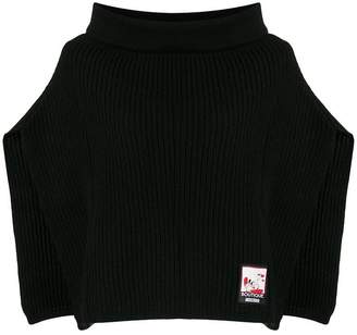 Moschino knitted rollneck poncho