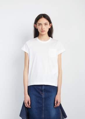 Sacai Cotton Jersey T-Shirt White