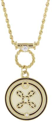Foundrae True Love Medallion With Lovers Knot Necklace