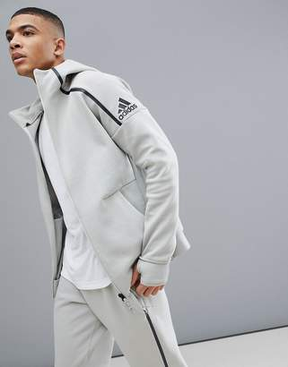 adidas ZNE 2 hoodie in beige cg2174