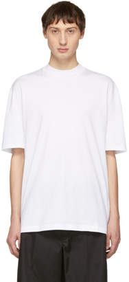 Lanvin White Mock Neck T-Shirt