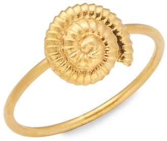 Valentino Garavani Goldtone Shell Charm Ring