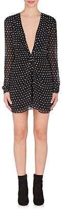 Saint Laurent Women's Polka Dot Silk Minidress