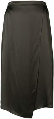Vince silk high waisted skirt