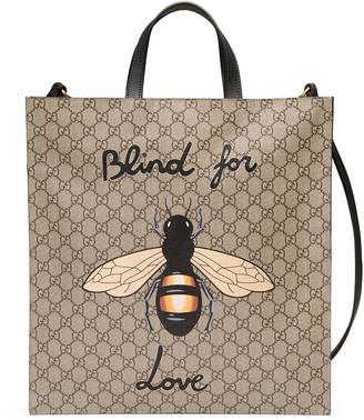 Bee print soft GG Supreme tote $1,250 thestylecure.com