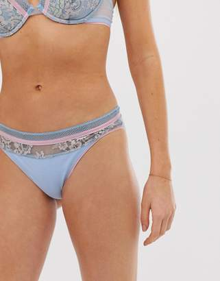 Vanity Fair two tone brief with floral detail