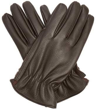 Giorgio Armani Grained-leather gloves