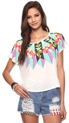 Forever 21 Tribal Geo Shirt