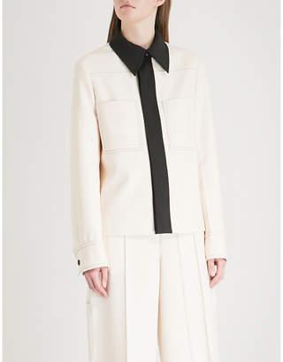 Joseph Coen contrast-collar crepe jacket