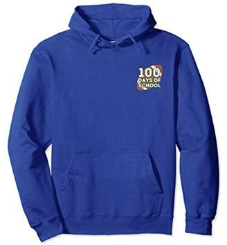 Happy 100 Days of School Hoodie Double Sided Football Sports