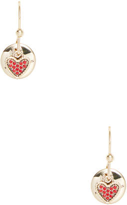 Marc by Marc Jacobs Jewelry Coin & Heart Crystal Drop Earrings