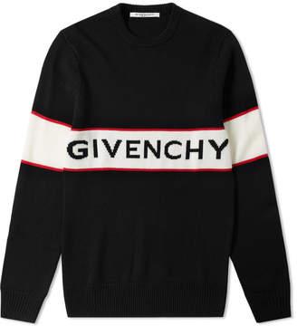 Givenchy Logo Band Crew Neck Knit