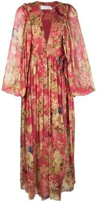 Zimmermann floral flared dress