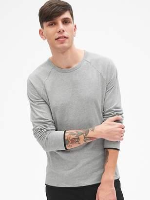 Gap Long Sleeve Double-Face Crewneck T-Shirt