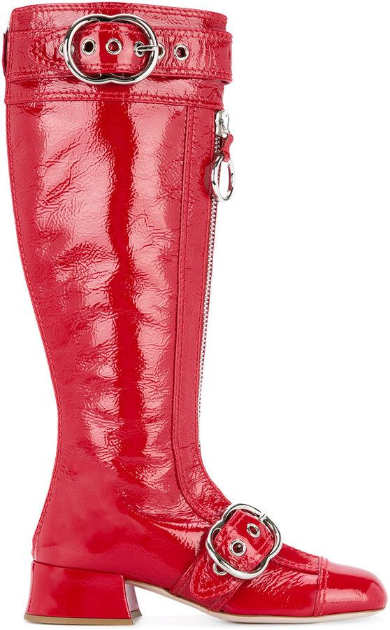 Miu Miu buckled boots