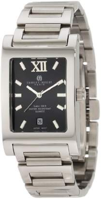 WR Charles Hubert Rectangular SS Mens Wrist Watch 3667BM