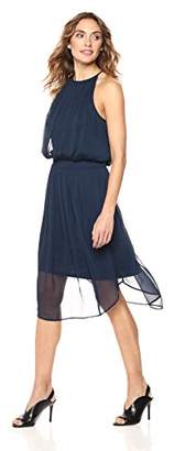 Suite Alice Sleeveless Halter Neck Round Hem Crinkle Chiffon Dress