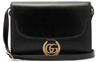 Gucci Gg Ring Leather Shoulder Bag - Womens - Black