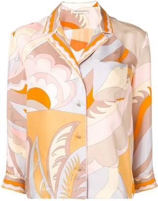 Emilio Pucci printed 3/4 sleeve shirt