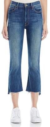 MOTHER Insider Crop Step Fray Jeans in Not Rough Enough $228 thestylecure.com