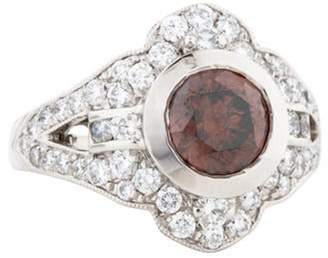 Ring Platinum Diamond Cocktail brown Platinum Diamond Cocktail